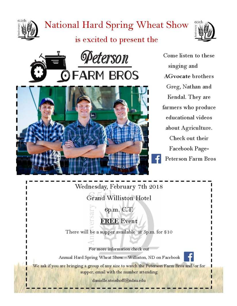 Peterson Brothers flyer
