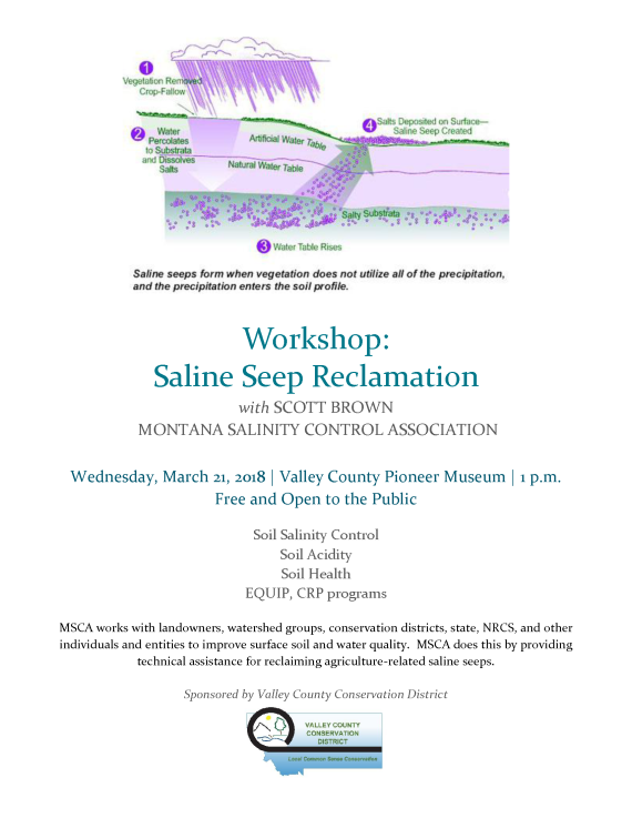 Saline Seep Workshop Flyer