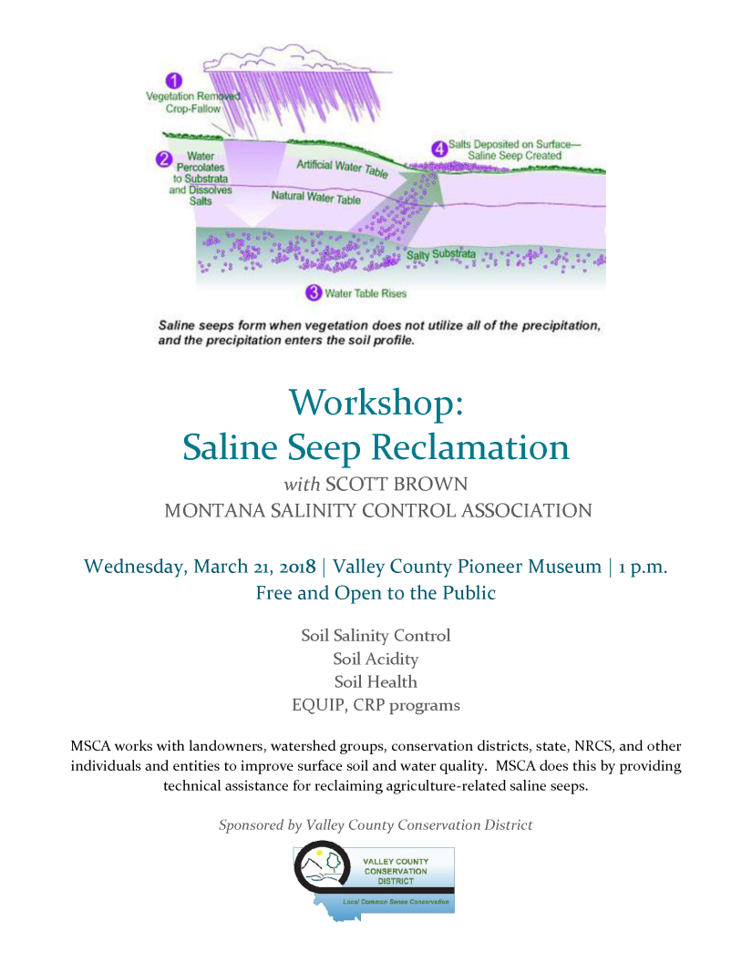 Saline Seep Workshop Flyer